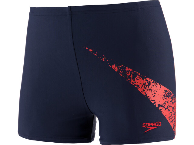 speedo Boomstar Placement Aquashorts Jongens, true navy/fed red